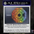 Robo Cop OCP Logo Decal Sticker Glitter Sparkle 120x120