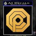 Robo Cop OCP Logo Decal Sticker Gold Vinyl 120x120