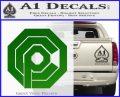 Robo Cop OCP Logo Decal Sticker Green Vinyl Logo 120x97