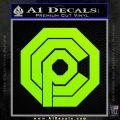 Robo Cop OCP Logo Decal Sticker Lime Green Vinyl 120x120