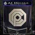 Robo Cop OCP Logo Decal Sticker Metallic Silver Emblem 120x120