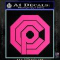 Robo Cop OCP Logo Decal Sticker Pink Hot Vinyl 120x120