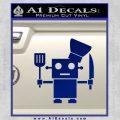 Robot Chef Cook D1 Decal Sticker Blue Vinyl 120x120