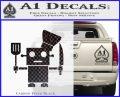 Robot Chef Cook D1 Decal Sticker Carbon FIber Black Vinyl 120x97