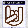 Rocker Fist Decal Sticker Rock Out BROWN Vinyl 120x120