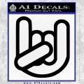 Rocker Fist Decal Sticker Rock Out Black Vinyl 120x120
