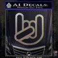 Rocker Fist Decal Sticker Rock Out Carbon FIber Chrome Vinyl 120x120