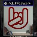 Rocker Fist Decal Sticker Rock Out DRD Vinyl 120x120