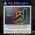 Rocker Fist Decal Sticker Rock Out Glitter Sparkle 120x120