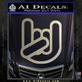 Rocker Fist Decal Sticker Rock Out Metallic Silver Emblem 120x120