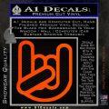Rocker Fist Decal Sticker Rock Out Orange Emblem 120x120