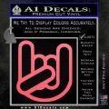 Rocker Fist Decal Sticker Rock Out Pink Emblem 120x120