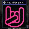 Rocker Fist Decal Sticker Rock Out Pink Hot Vinyl 120x120