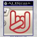 Rocker Fist Decal Sticker Rock Out Red 120x120