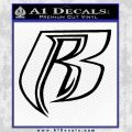Rough Riders DMX Decal Sticker R2 Black Vinyl 120x120