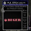 Ruger Decal Sticker Wide Pink Emblem 120x120