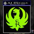 Ruger Firearms SR Decal Sticker Lime Green Vinyl 120x120