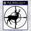 Scope Buck Solid New Decal Sticker Black Vinyl 120x120