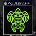 Sea Turtle Hawaiian Tribal D1 Decal Sticker Lime Green Vinyl 120x120