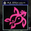 Sea Turtle Yin Yang Decal Sticker Pink Hot Vinyl 120x120