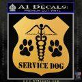 Service Dog Decal Sticker D2 Gold Vinyl 120x120