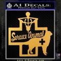 Service Dog Decal Sticker D4 Gold Vinyl 120x120