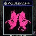 Sexy Angel Devil Girls Decal Sticker D1 Pink Hot Vinyl 120x120