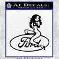 Sexy Ford Girl Decal Sticker V2 Black Vinyl 120x120