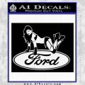 Sexy Ford Girl Decal Sticker V6 Black Vinyl 120x120