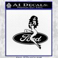 Sexy Ford Girl Decal Sticker V7 Black Vinyl 120x120