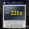 Sherlock Holmes Decal 221B Sticker Yellow Laptop 120x120