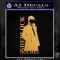 Sherlock Holmes Poster D1 Decal Sticker Gold Metallic Vinyl 120x120