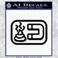 Shit Magnet D1 Decal Sticker Black Vinyl 120x120