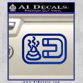 Shit Magnet D1 Decal Sticker Blue Vinyl 120x120