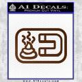 Shit Magnet D1 Decal Sticker Brown Vinyl 120x120