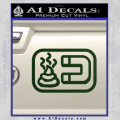 Shit Magnet D1 Decal Sticker Dark Green Vinyl 120x120