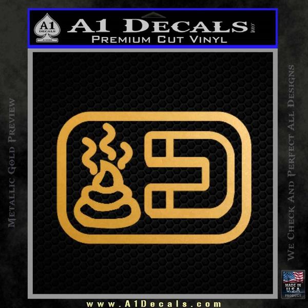 Shit Magnet D1 Decal Sticker Gold Metallic Vinyl