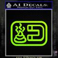 Shit Magnet D1 Decal Sticker Neon Green Vinyl 120x120