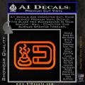Shit Magnet D1 Decal Sticker Orange Emblem 120x120