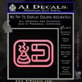 Shit Magnet D1 Decal Sticker Soft Pink Emblem 120x120