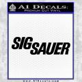 Sig Sauer Decal Sticker Black Wide Vinyl 120x120