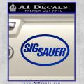 Sig Sauer Decal Sticker Oval Blue Vinyl 120x120