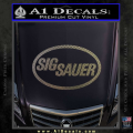 Sig Sauer Decal Sticker Oval CFC Vinyl 120x120