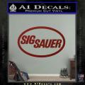 Sig Sauer Decal Sticker Oval DRD Vinyl 120x120