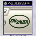 Sig Sauer Decal Sticker Oval Dark Green Vinyl 120x120