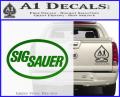 Sig Sauer Decal Sticker Oval Green Vinyl 120x97