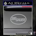 Sig Sauer Decal Sticker Oval Grey Vinyl 120x120