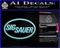 Sig Sauer Decal Sticker Oval Light Blue Vinyl 120x97