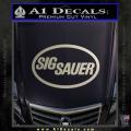 Sig Sauer Decal Sticker Oval Metallic Silver Vinyl 120x120
