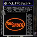 Sig Sauer Decal Sticker Oval Orange Emblem 120x120